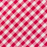 Biały i czerwony w kratkę tło Zdjęcie Royalty Free