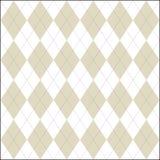 Biały i fałszywy barwiony argyle patern Fotografia Stock