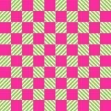 Biały i jaskrawy różowy tekstura szachy wzór ilustracja wektor