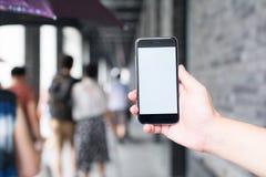 Biały i pusty ekran mądrze telefon Zdjęcie Royalty Free