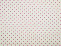 Biały i różowy polki kropki tło Obraz Stock