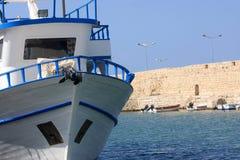biały jacht zdjęcie stock