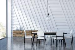 Biały jadalni wnętrze ilustracja wektor