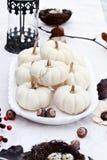 Biały jesień stołu położenie Obrazy Royalty Free