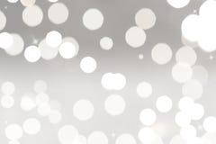 Biały kółkowy bokeh tło Obraz Stock