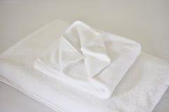 Biały Kąpielowy ręcznik Obrazy Stock