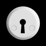 Biały keyhole zdjęcia stock