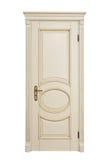 Biały klasyczny drzwi odizolowywa na białym tle obrazy royalty free