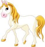 Biały koń ilustracji