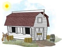 biały koń barn ilustracja wektor