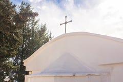 Biały kościół chrześcijański Zdjęcia Stock