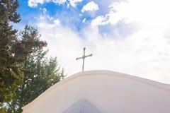 Biały kościół chrześcijański Zdjęcia Royalty Free