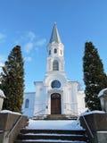 Biały kościół, Lithuania zdjęcia stock