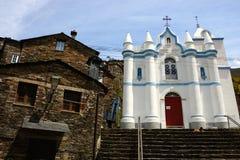 Biały kościół Piodao Zdjęcie Stock