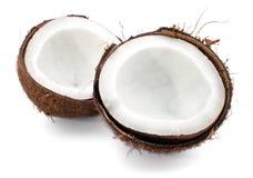 biały kokosowe tło część Obraz Stock