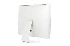 Biały komputerowy monitor odizolowywający Zdjęcia Stock
