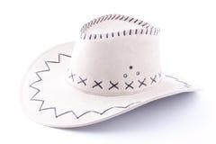 Biały kowbojski kapelusz Zdjęcia Stock