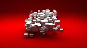 biały kubiczne grupowe cząsteczki ilustracji