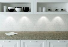 Biały kuchenny projekt zdjęcie stock