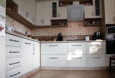 Biały kuchnia obrazy stock