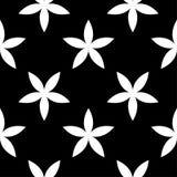 Biały kwiecisty projekt na czarnym tle bezszwowy wzoru ilustracji