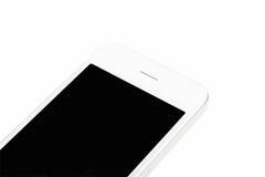 Biały mądrze telefon Fotografia Stock
