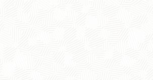 Biały matte geometryczny nawierzchniowy tło Przypadkowy abstrakcjonistyczny linia kształtów zapętlający ruch royalty ilustracja