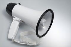 Biały megafon Zdjęcia Stock