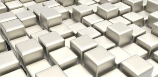 Biały metalu sześciany Fotografia Stock