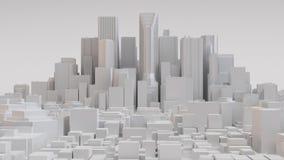 Biały miasto układ royalty ilustracja