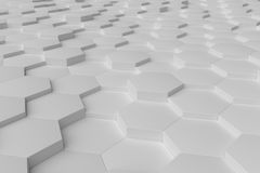 Biały monochromatyczny sześciokąt tafluje abstrakcjonistycznego tło ilustracja wektor
