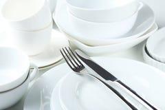 Biały naczynie Fotografia Stock