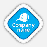 Biały nakrętka logo Fotografia Stock
