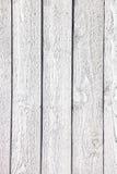 Biały nieociosany drewniany deski tło Obraz Royalty Free