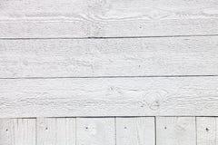 Biały nieociosany drewniany deski tło Obraz Stock
