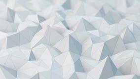 Biały niski poli- abstrakcjonistyczny tło zbiory wideo