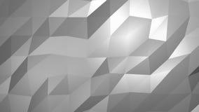 Biały niski poli- abstrakcjonistyczny tło Płynnie loopable ilustracji