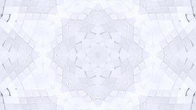 Biały niski poli- geometryczny abstrakcjonistyczny tło jako poruszający witrażu lub kalejdoskopu skutek w 4k Pętli 3d animacja ilustracji