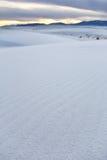 biały nowi Mexico piaski Zdjęcia Stock
