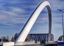 Biały nowożytny most Obraz Stock