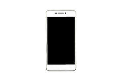 Biały nowożytny smartphone odizolowywający na białym tle zdjęcie stock