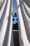 Biały obmycie w Burano wyspie, Wenecja zdjęcie stock