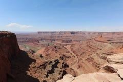 Biały obręcz w Canyonlands parku narodowym Zdjęcia Royalty Free