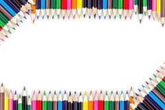 biały odosobneni colour ołówki ilustracja wektor