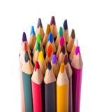 biały odosobneni colour ołówki Fotografia Royalty Free