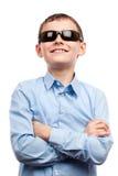 biały odosobneni dziecko okulary przeciwsłoneczne obraz stock