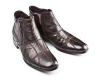 biały odosobneni męscy buty Zdjęcie Royalty Free
