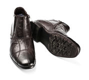 biały odosobneni męscy buty Obrazy Royalty Free