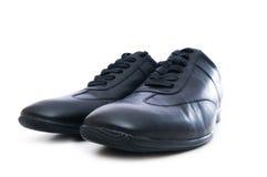 biały odosobneni męscy buty Obrazy Stock