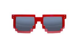 biały odosobneni pixelated okulary przeciwsłoneczne fotografia royalty free